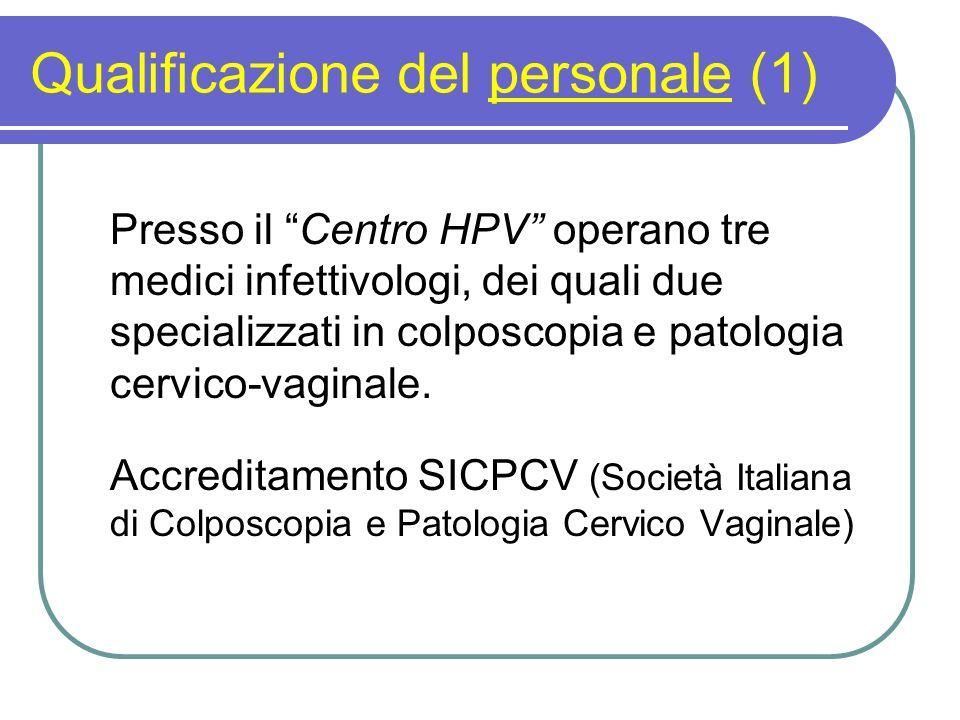 Qualificazione del personale (1)