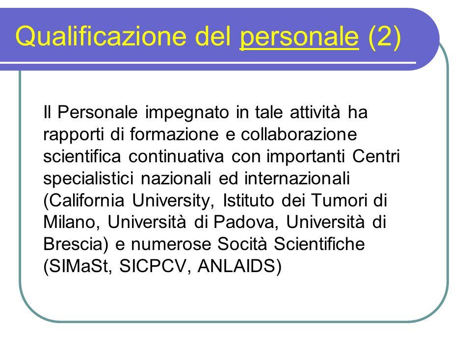 Qualificazione del personale (2)
