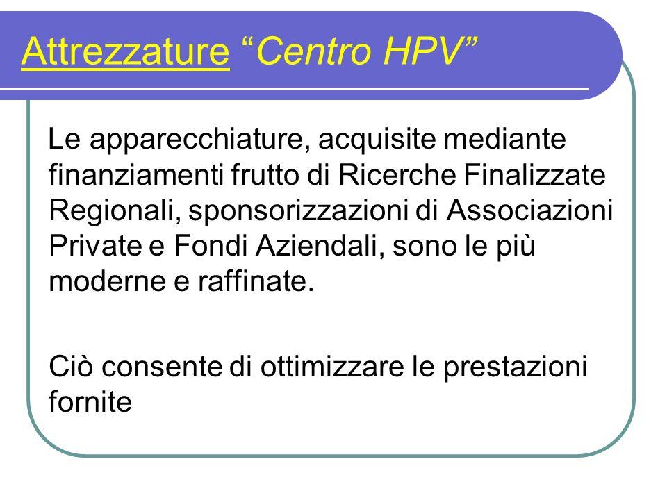Attrezzature Centro HPV