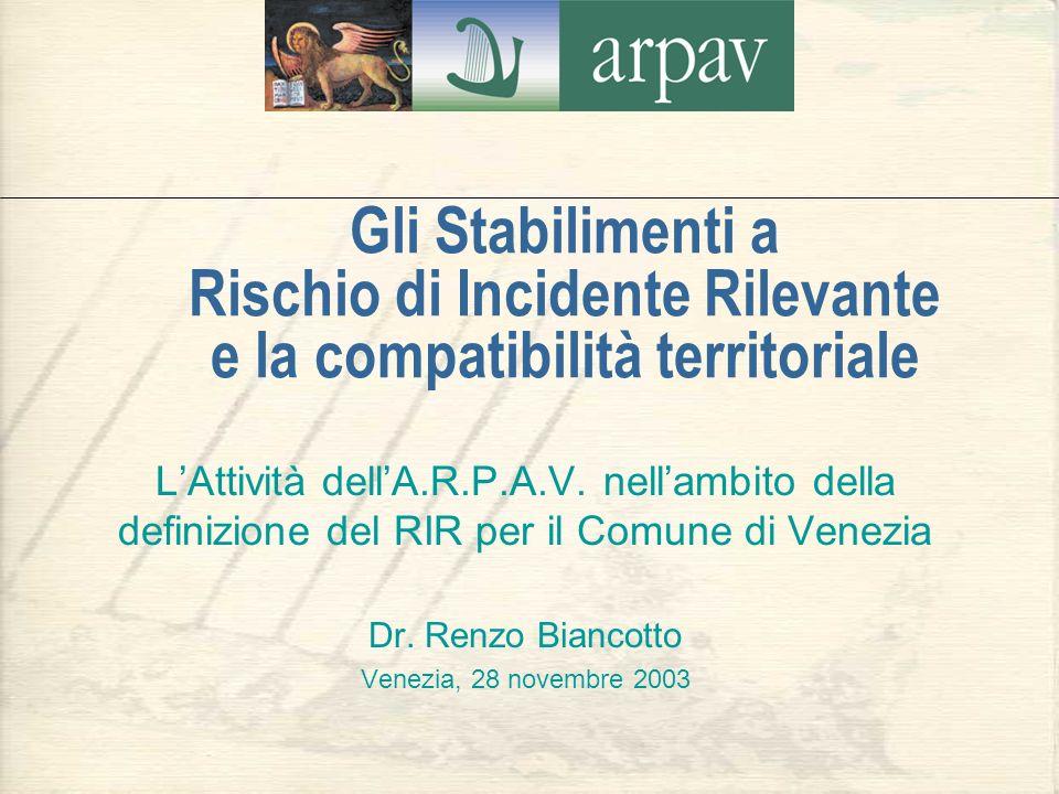 Gli Stabilimenti a Rischio di Incidente Rilevante e la compatibilità territoriale
