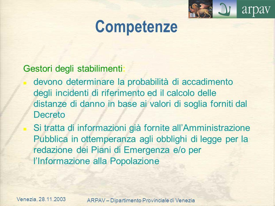 ARPAV – Dipartimento Provinciale di Venezia