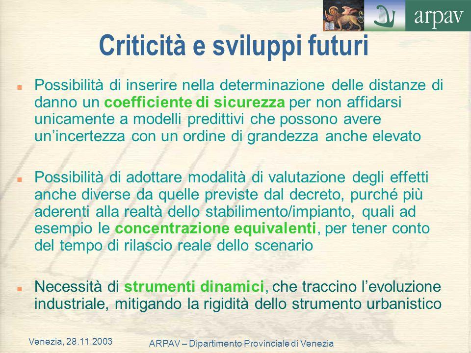 Criticità e sviluppi futuri