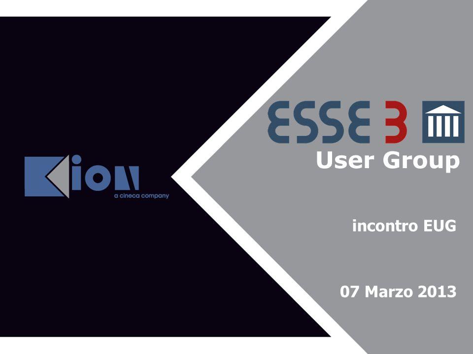 User Group Agenda del 43^ EUG incontro EUG 07 Marzo 2013