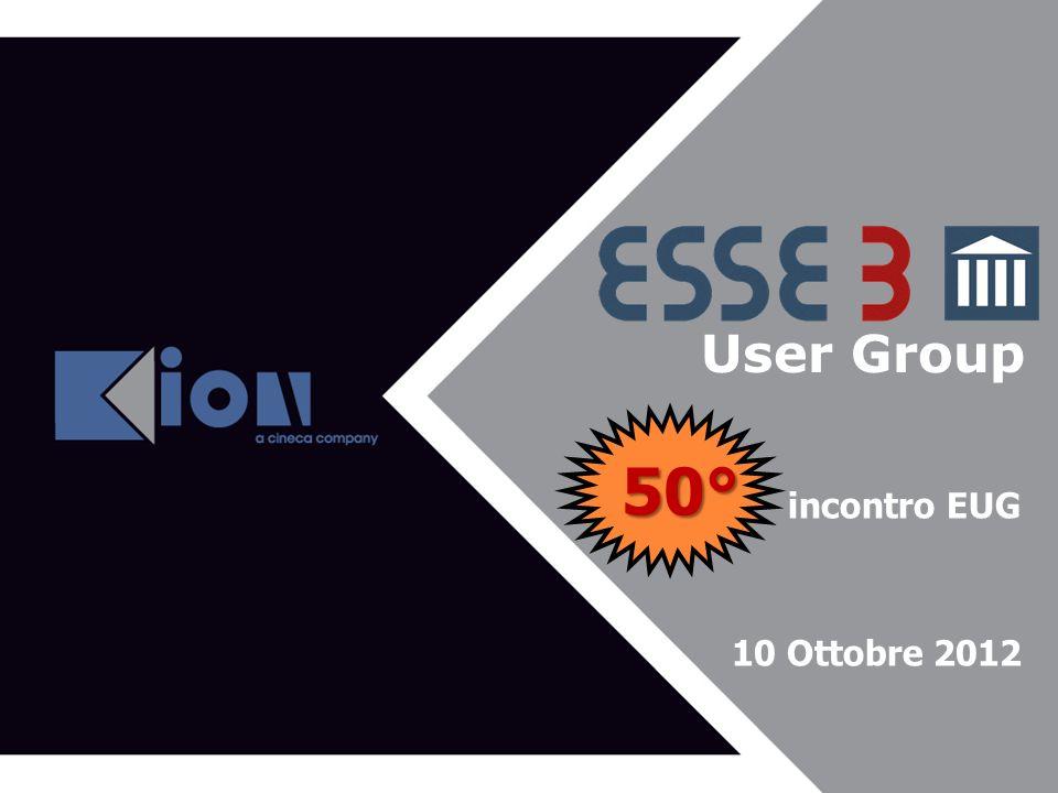50° User Group Agenda del 43^ EUG incontro EUG 10 Ottobre 2012