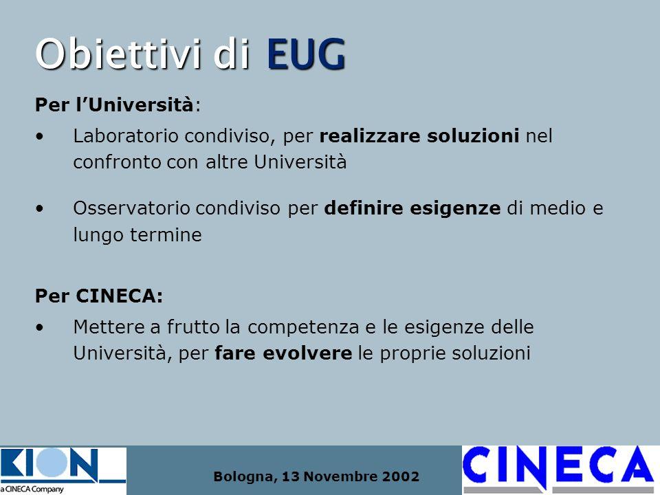 Obiettivi di EUG Per l'Università: