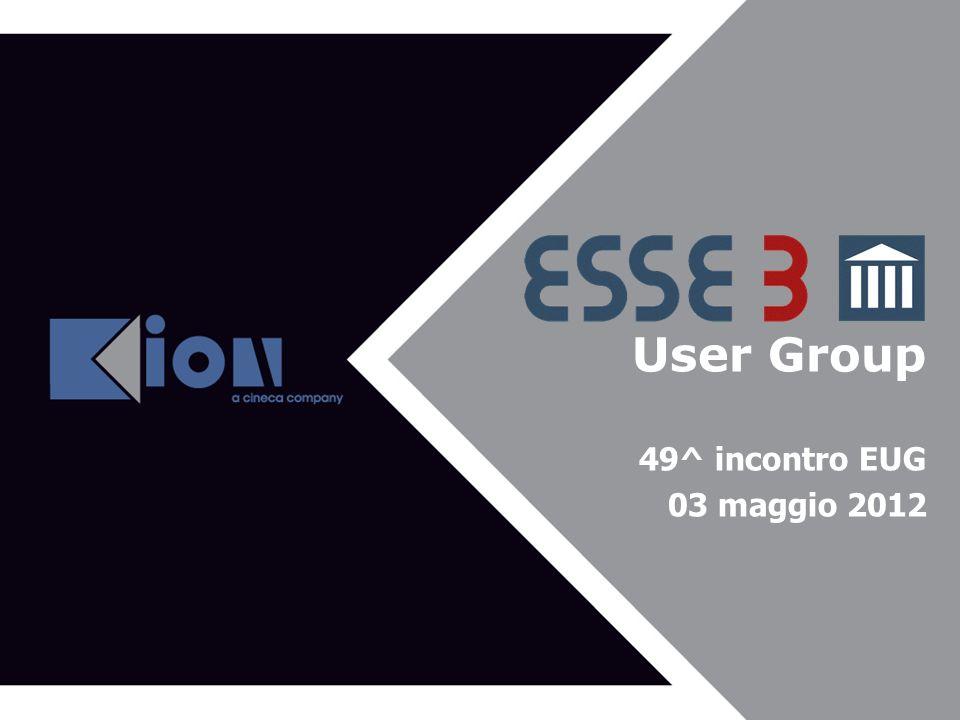 User Group Agenda del 43^ EUG 49^ incontro EUG 03 maggio 2012