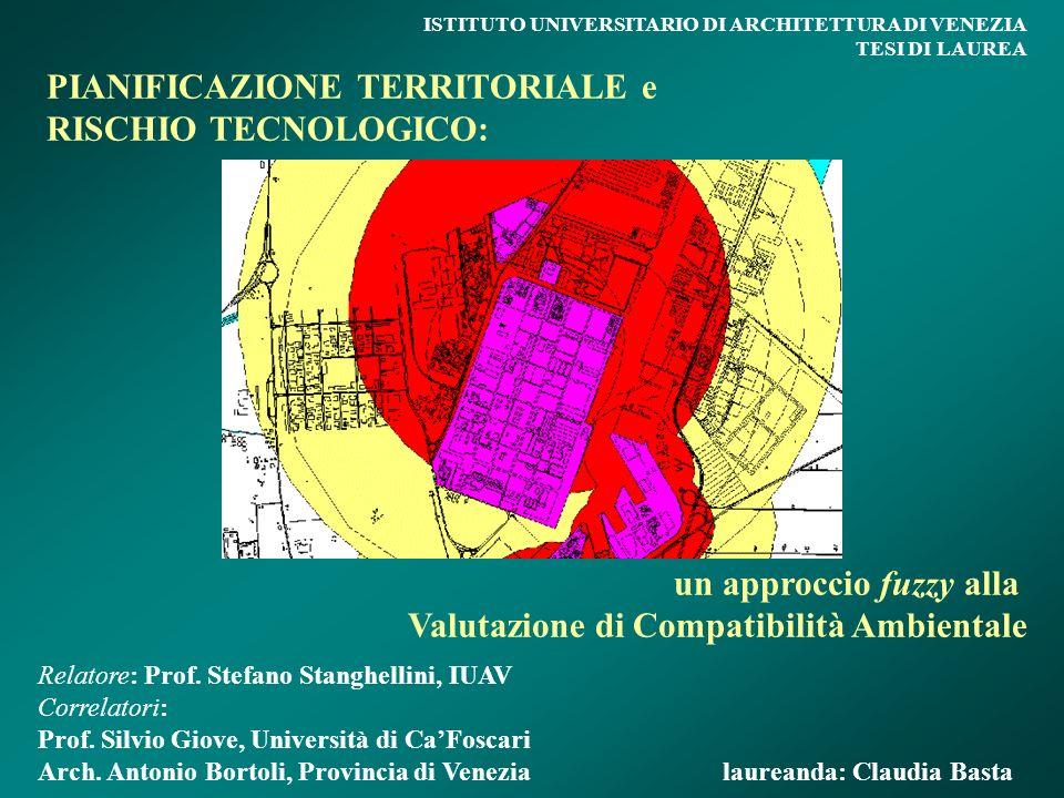 PIANIFICAZIONE TERRITORIALE e RISCHIO TECNOLOGICO: