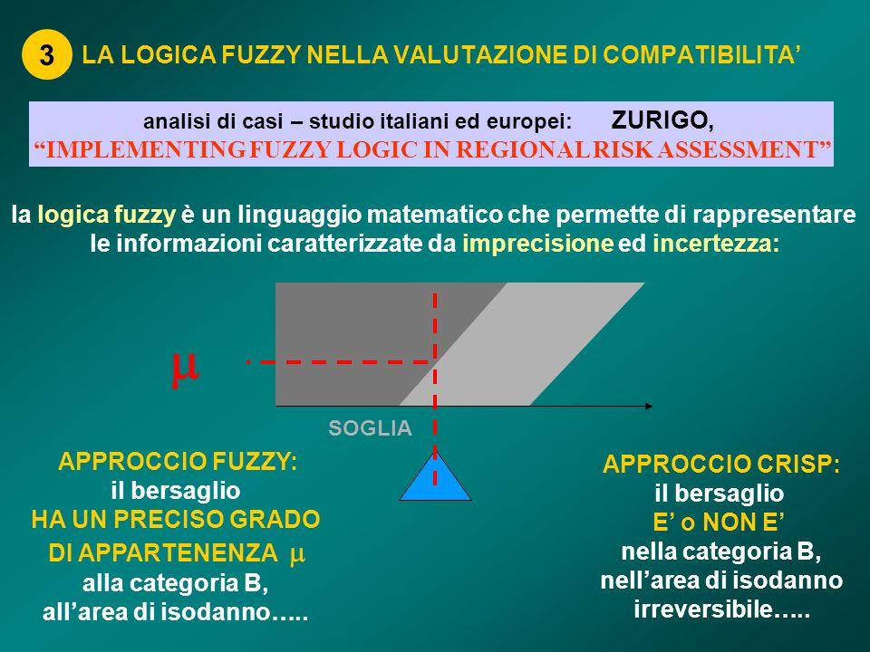 LA LOGICA FUZZY NELLA VALUTAZIONE DI COMPATIBILITA'