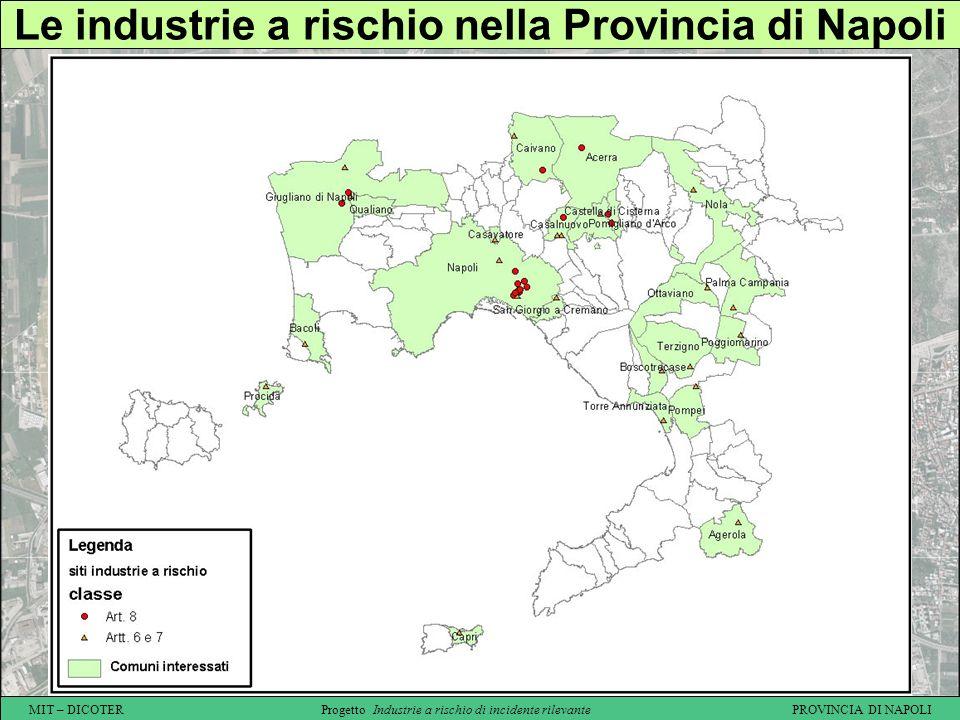 Le industrie a rischio nella Provincia di Napoli