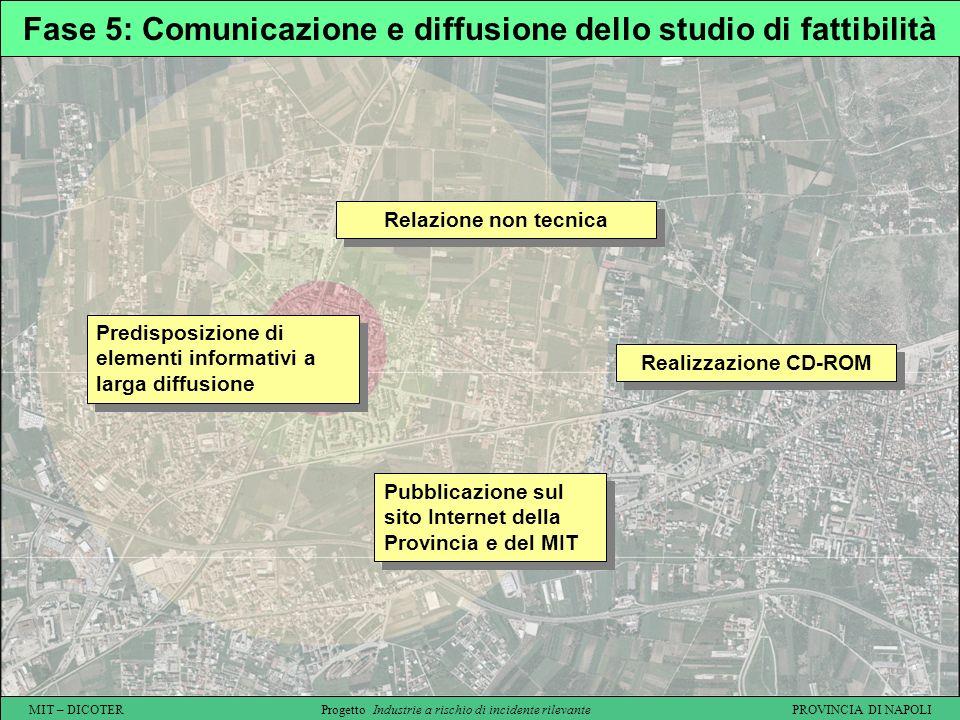 Fase 5: Comunicazione e diffusione dello studio di fattibilità