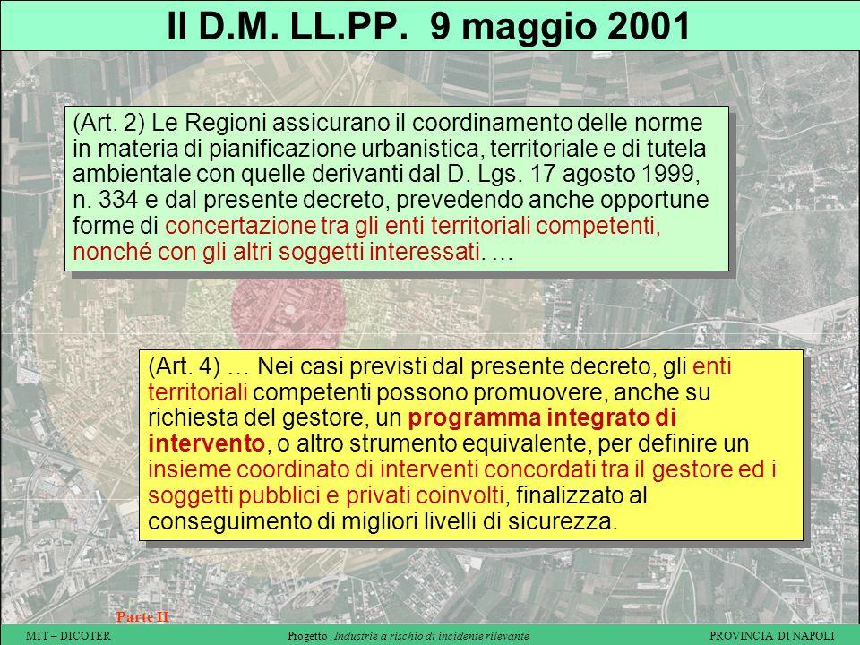 Il D.M. LL.PP. 9 maggio 2001