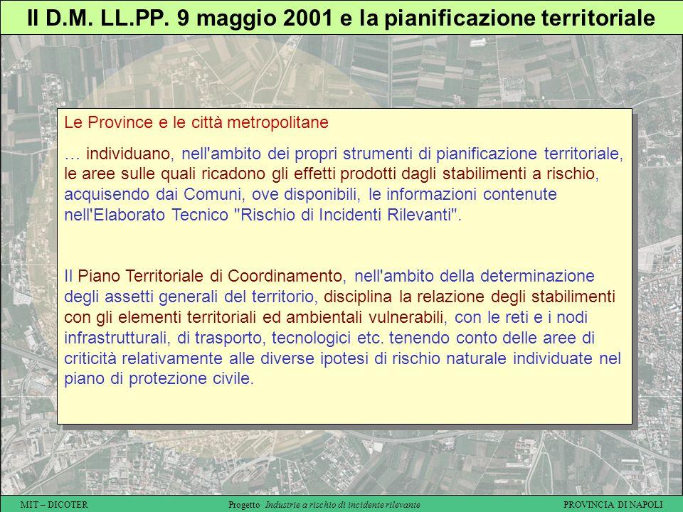Il D.M. LL.PP. 9 maggio 2001 e la pianificazione territoriale