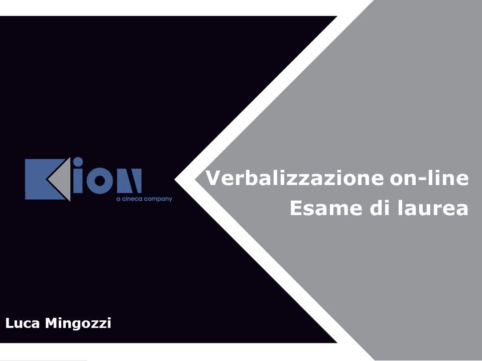 Verbalizzazione on-line Esame di laurea