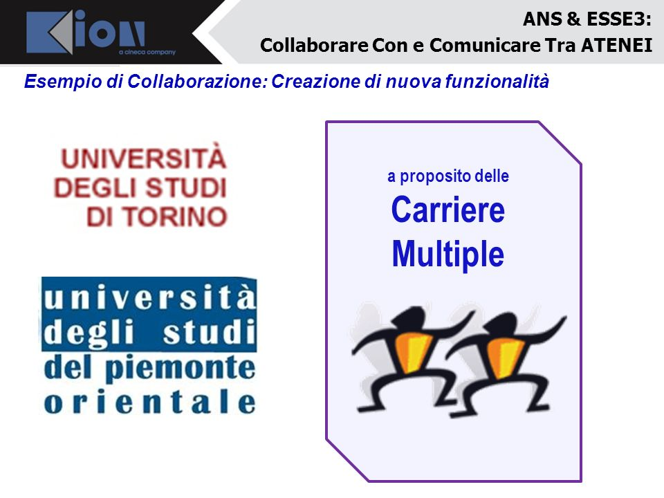 Carriere Multiple ANS & ESSE3: Collaborare Con e Comunicare Tra ATENEI