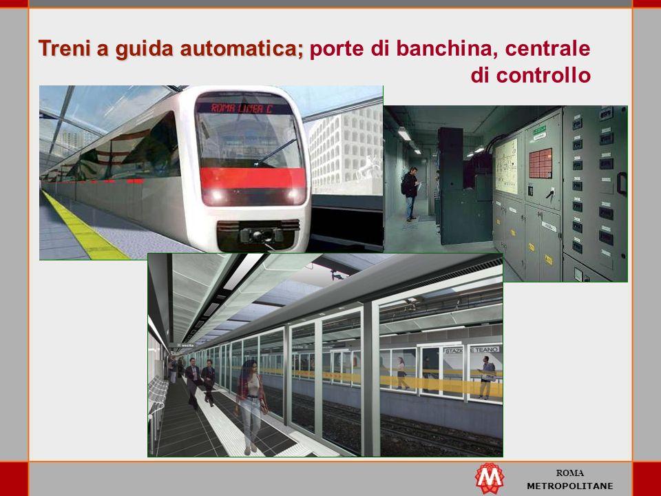 Treni a guida automatica; porte di banchina, centrale di controllo