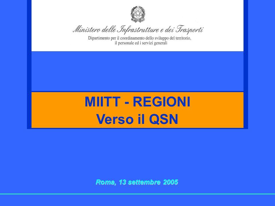 MIITT - REGIONI Verso il QSN