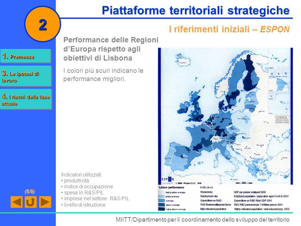 2 Piattaforme territoriali strategiche I riferimenti iniziali – ESPON