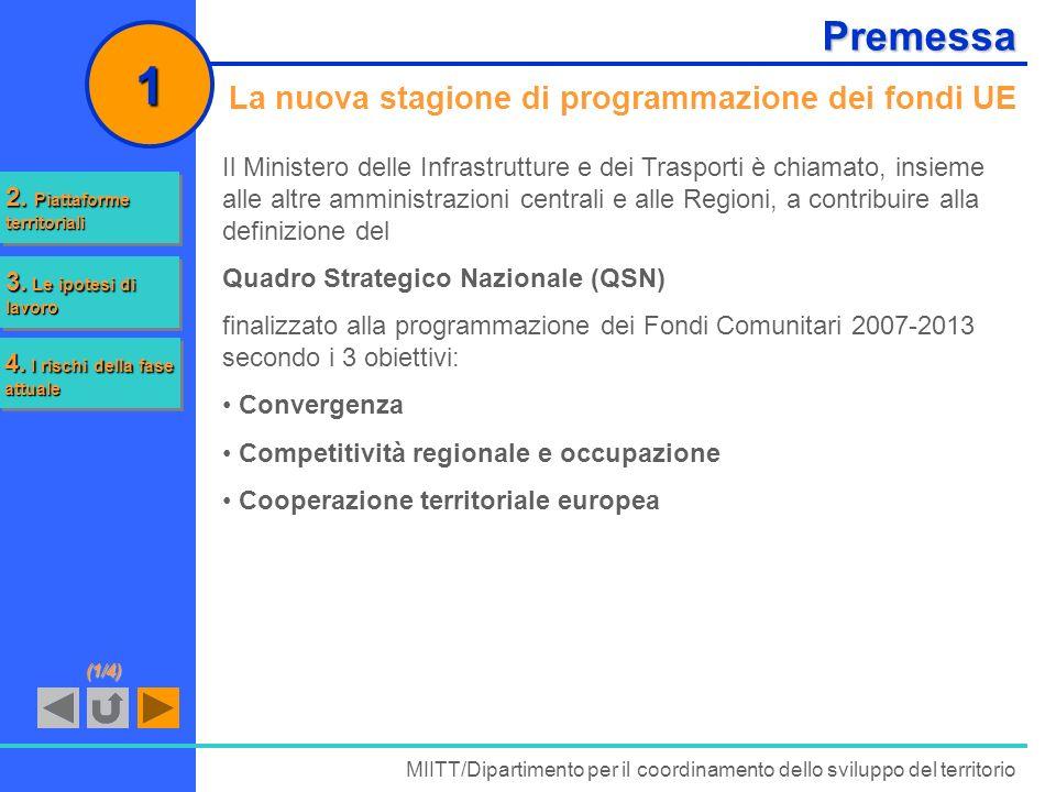 1 Premessa La nuova stagione di programmazione dei fondi UE