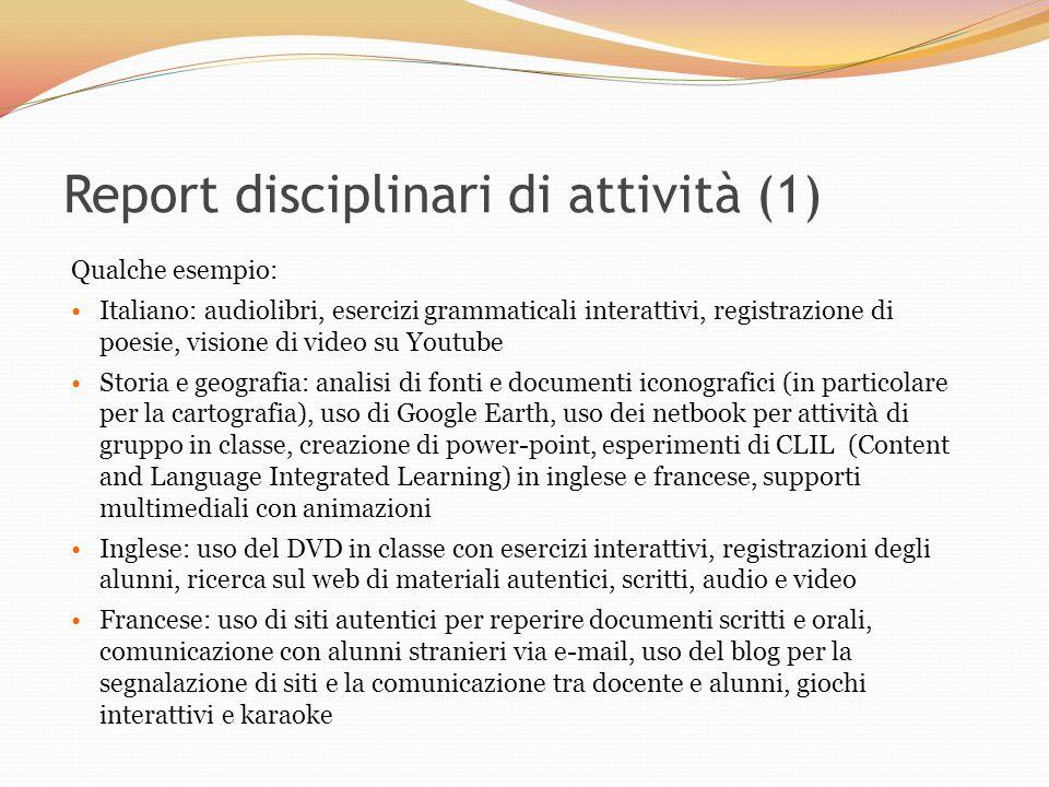 Report disciplinari di attività (1)