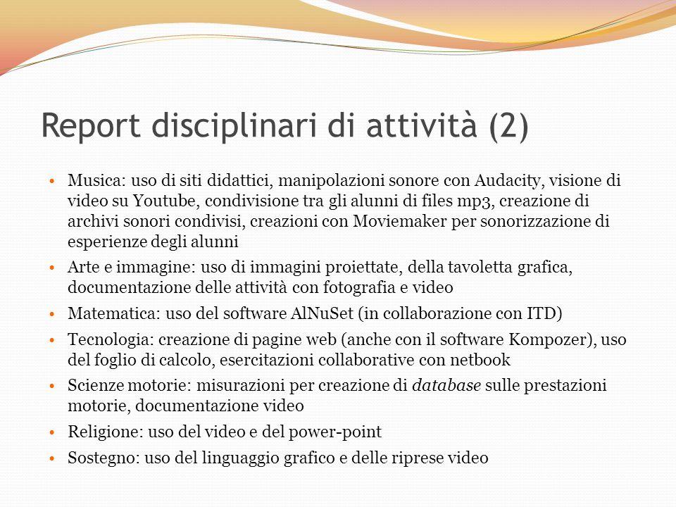 Report disciplinari di attività (2)