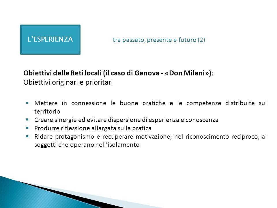 Obiettivi delle Reti locali (il caso di Genova - «Don Milani»):