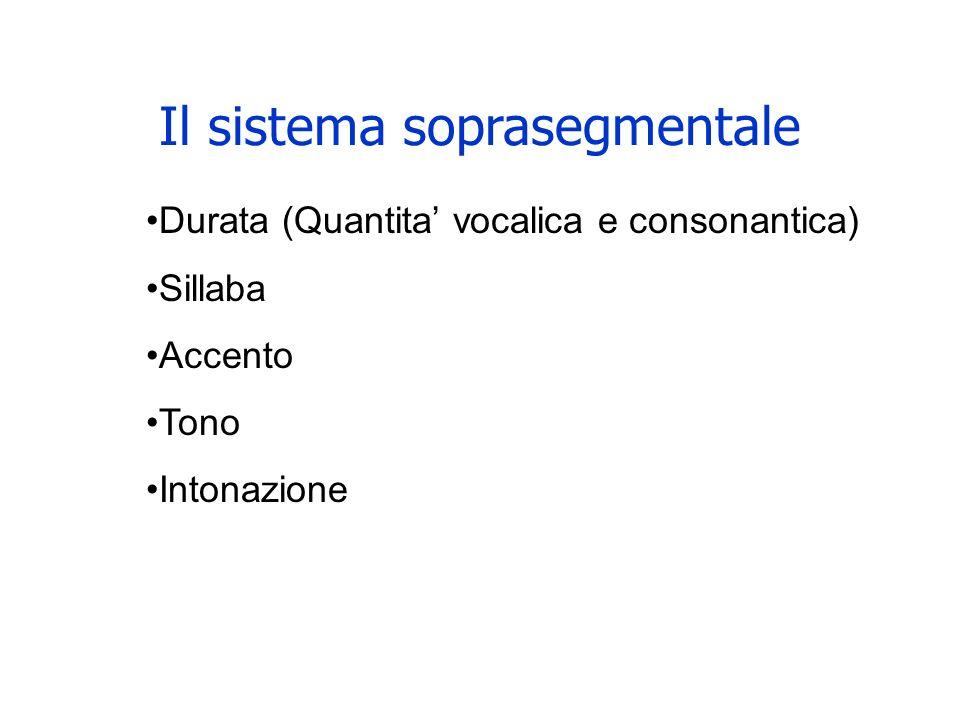 Il sistema soprasegmentale