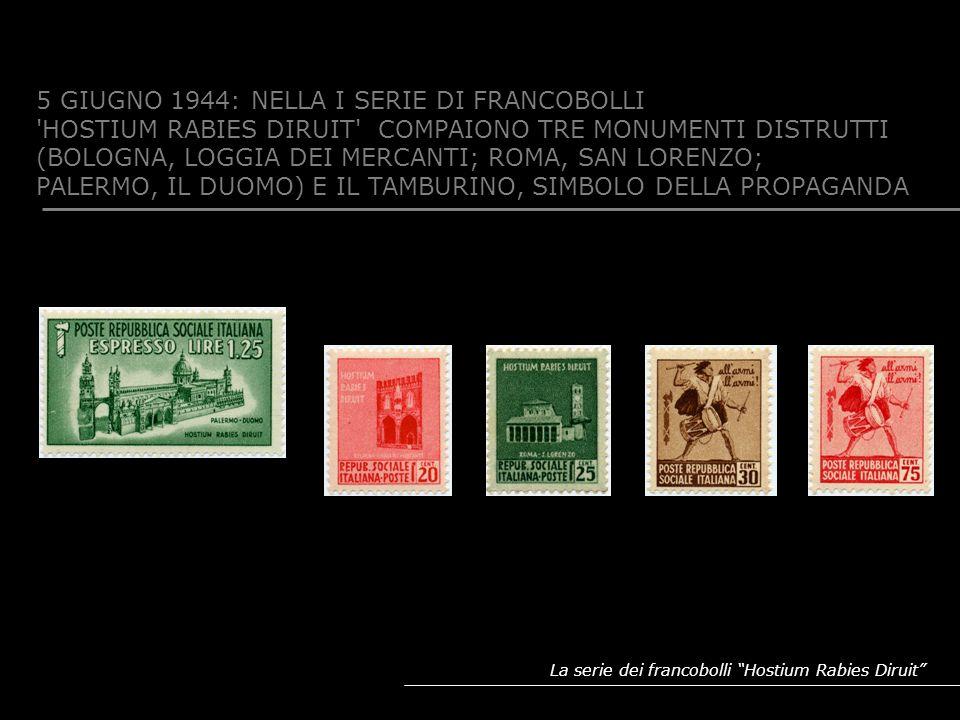 5 GIUGNO 1944: NELLA I SERIE DI FRANCOBOLLI