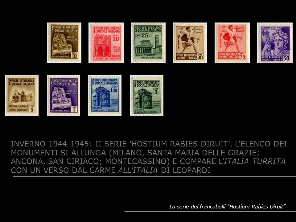 INVERNO 1944-1945: II SERIE HOSTIUM RABIES DIRUIT . L ELENCO DEI