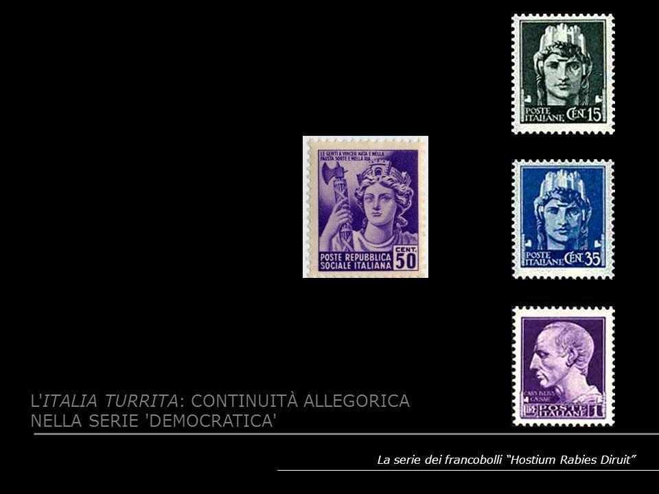 L ITALIA TURRITA: CONTINUITÀ ALLEGORICA NELLA SERIE DEMOCRATICA