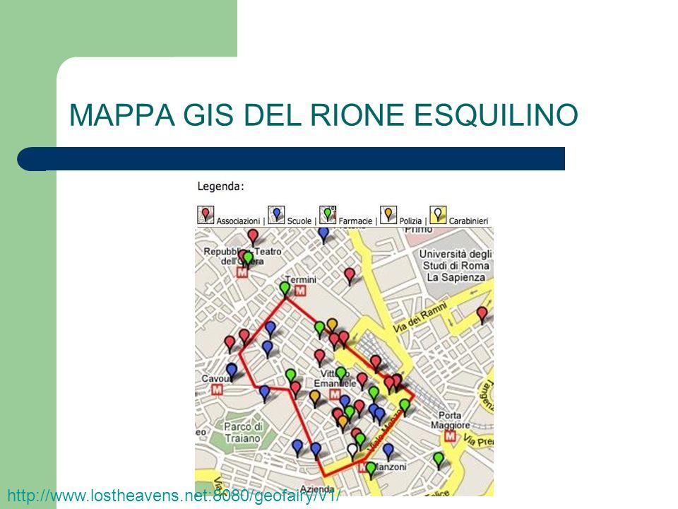 MAPPA GIS DEL RIONE ESQUILINO