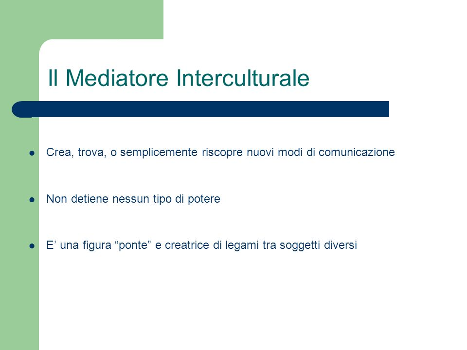 Il Mediatore Interculturale