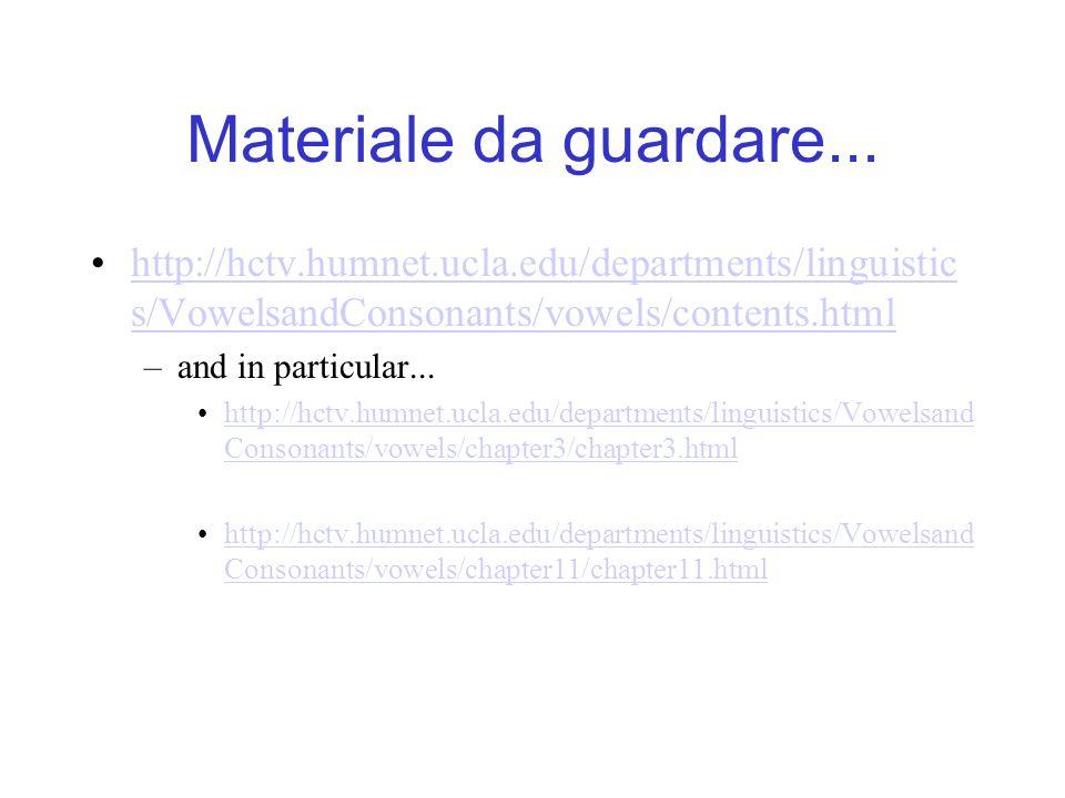 Materiale da guardare... http://hctv.humnet.ucla.edu/departments/linguistics/VowelsandConsonants/vowels/contents.html.
