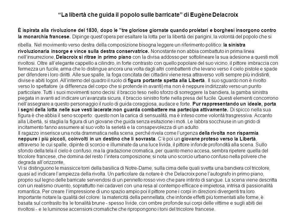 La libertà che guida il popolo sulle barricate di Eugène Delacroix