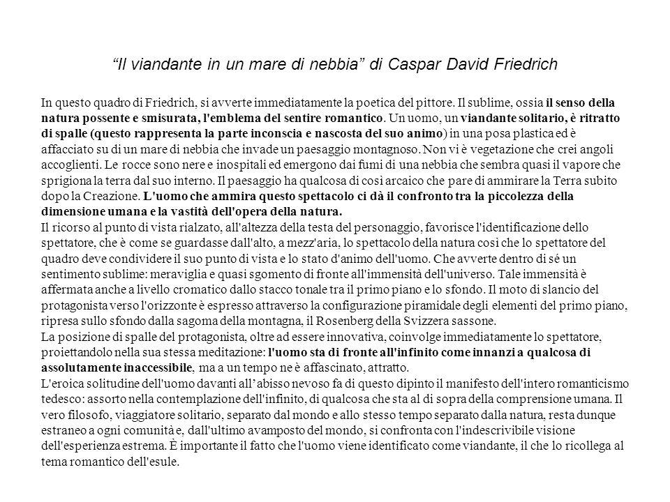 Il viandante in un mare di nebbia di Caspar David Friedrich