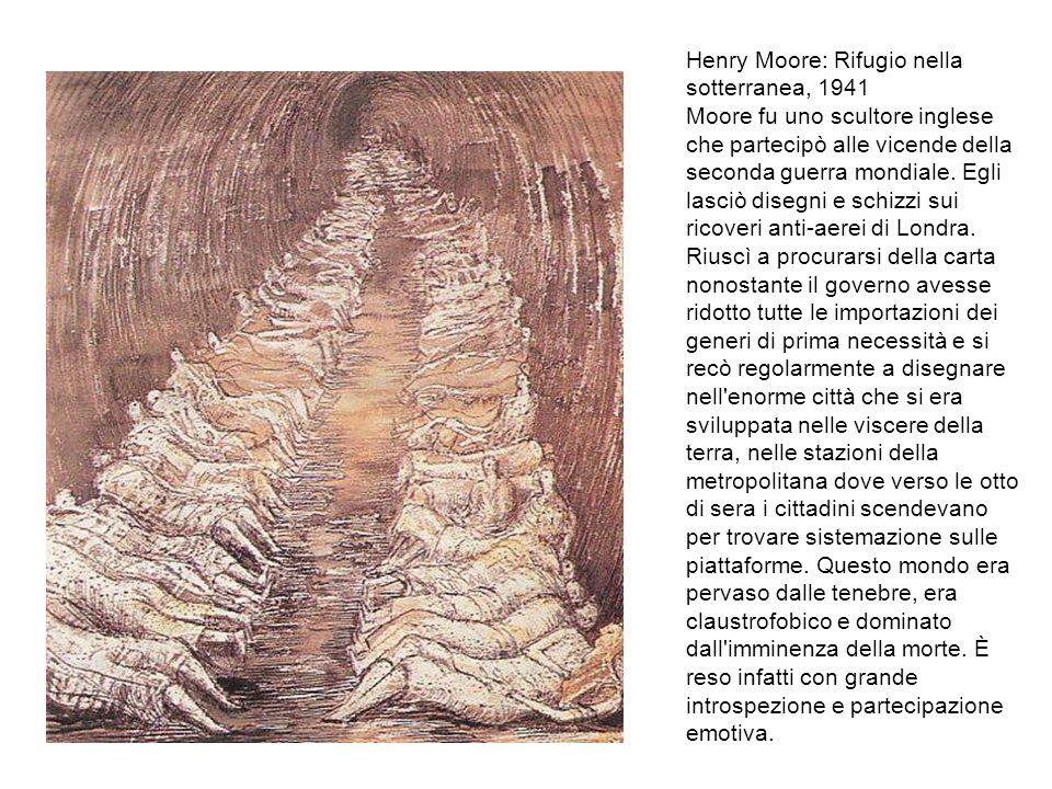 Henry Moore: Rifugio nella sotterranea, 1941