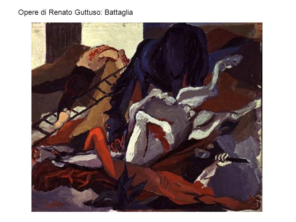 Opere di Renato Guttuso: Battaglia