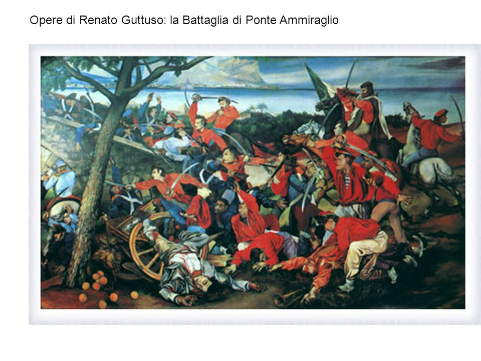 Opere di Renato Guttuso: la Battaglia di Ponte Ammiraglio