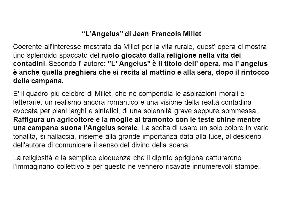 L'Angelus di Jean Francois Millet