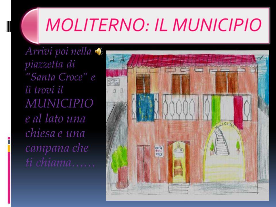 Arrivi poi nella piazzetta di Santa Croce e lì trovi il MUNICIPIO e al lato una chiesa e una campana che ti chiama……