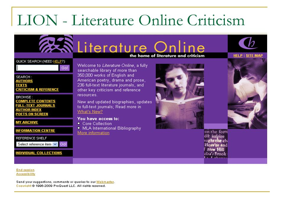 LION - Literature Online Criticism