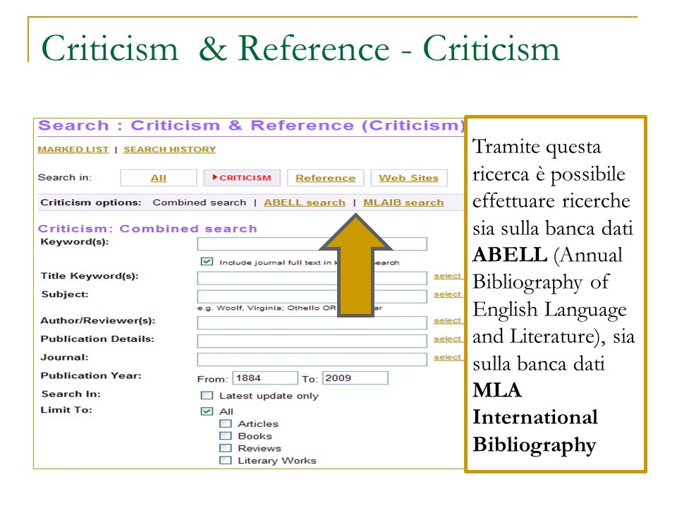 Criticism & Reference - Criticism