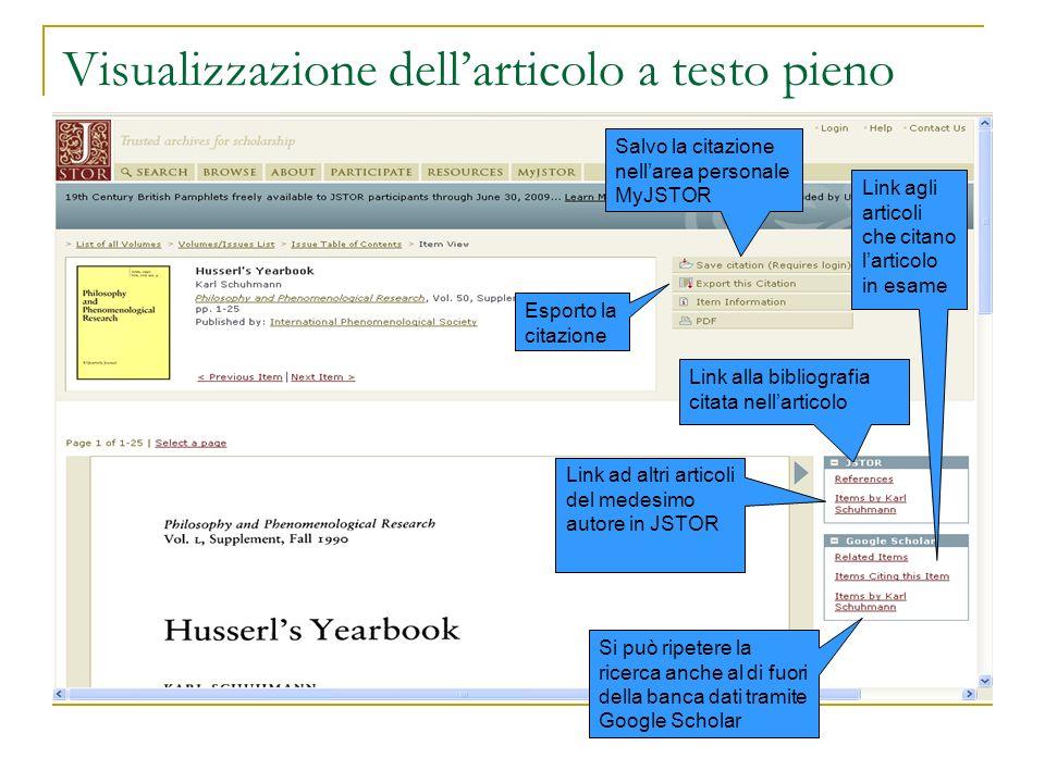 Visualizzazione dell'articolo a testo pieno