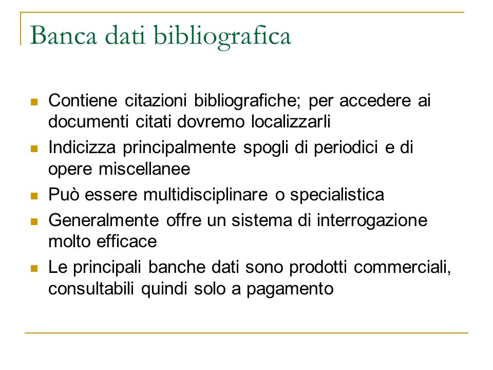 Banca dati bibliografica