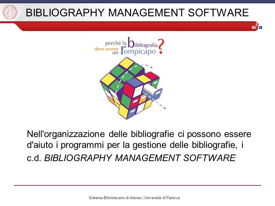 BIBLIOGRAPHY MANAGEMENT SOFTWARE