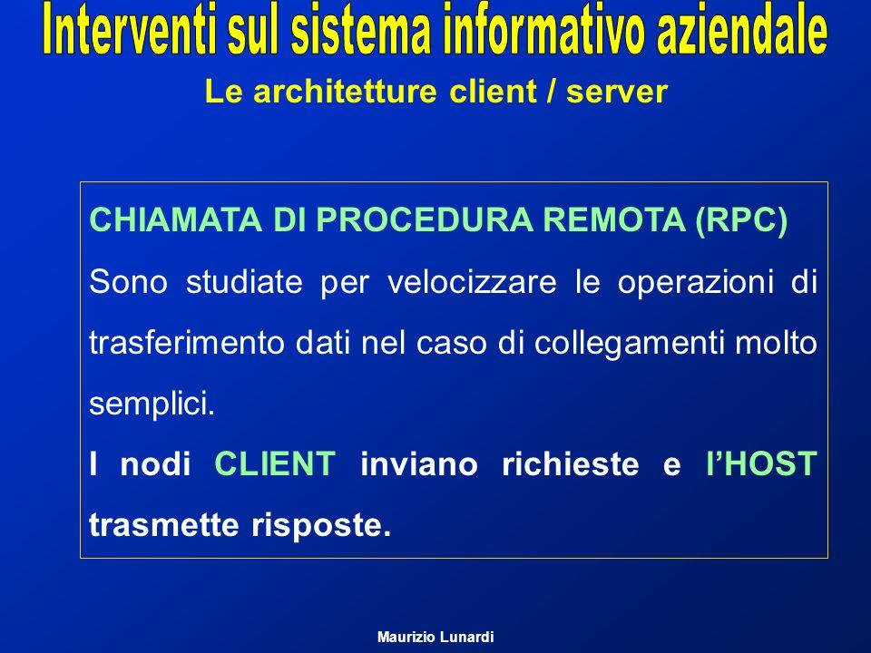 Le architetture client / server