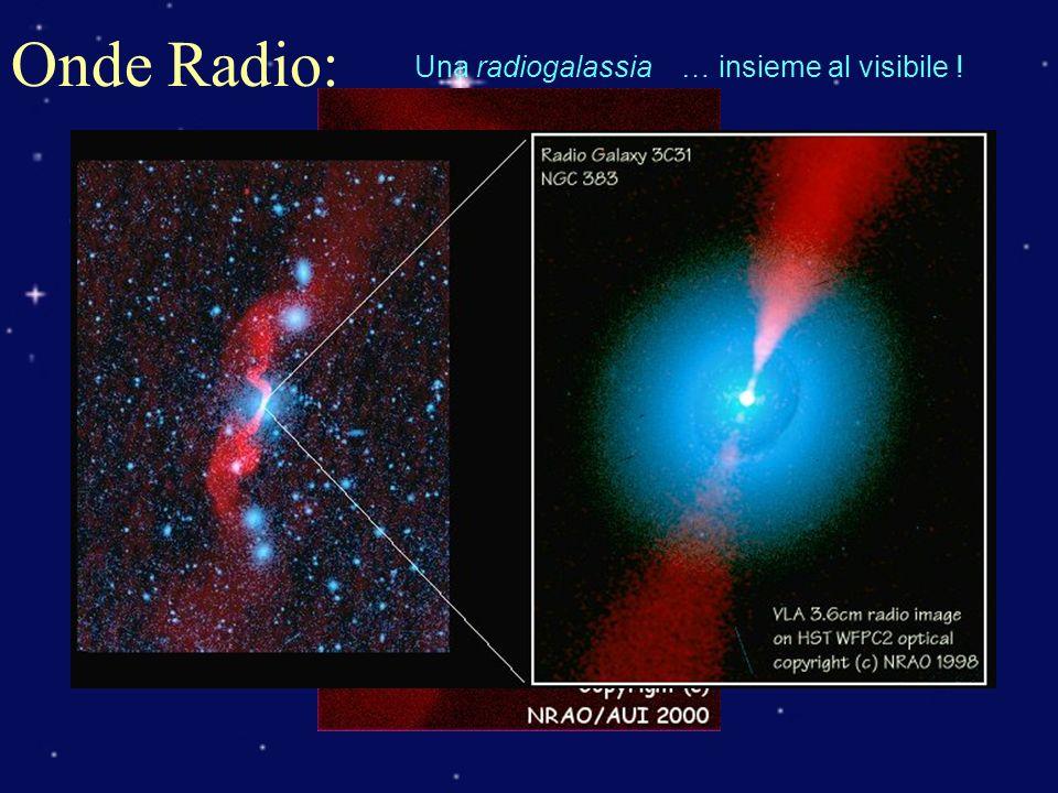 Onde Radio: Una radiogalassia … insieme al visibile !