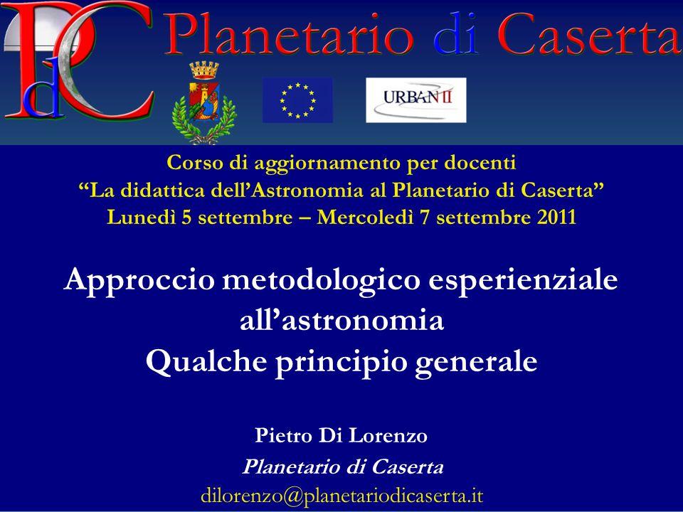 Approccio metodologico esperienziale all'astronomia