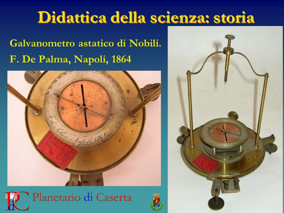 Galvanometro astatico di Nobili. F. De Palma, Napoli, 1864
