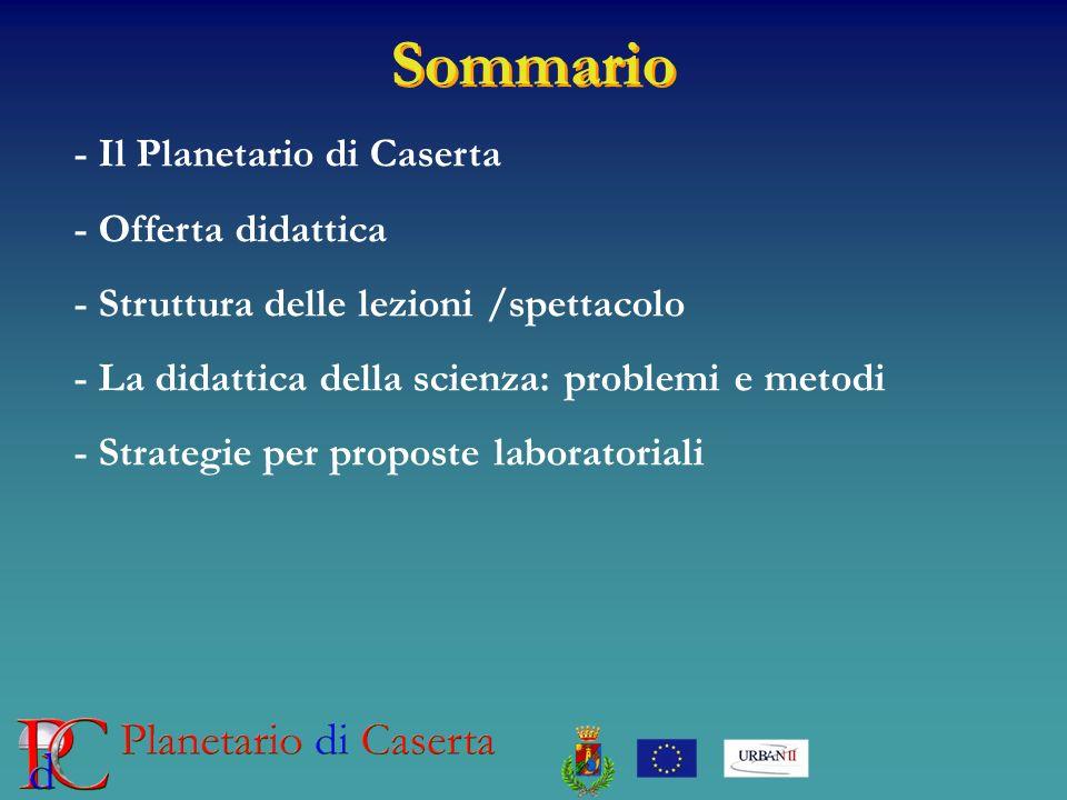 Sommario - Il Planetario di Caserta - Offerta didattica