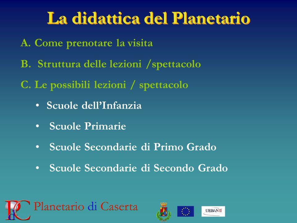 La didattica del Planetario
